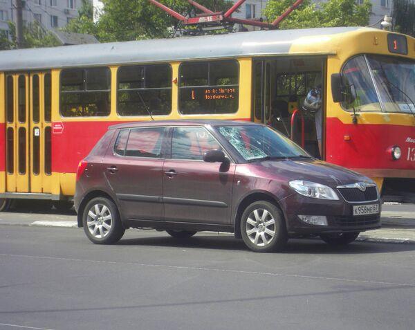автомобиль Шкода совершил наезд на пожилого мужчину