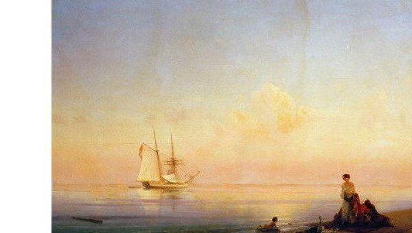 Картина И.К. Айвазовского Берег моря. Штиль, 1843 г.