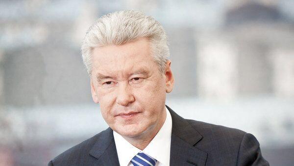 Мэр Москвы Сергей Собянин дает интервью телепрограмме Вести
