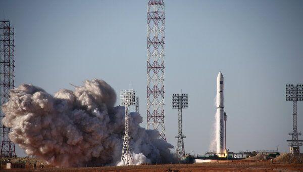 Запуск ракеты-носителя Зенит-3 СЛ БФ с астрофизической обсерваторией Спектр-Р с космодрома Байконур