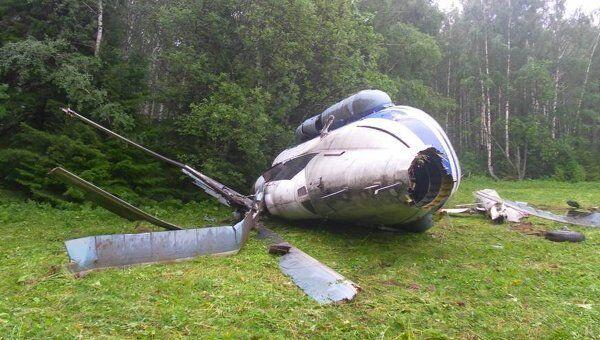 Жесткая посадка вертолета Ми-8 в Свердловской области