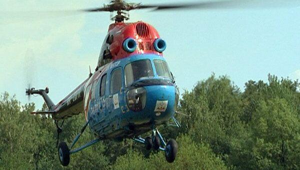 Вертолет-реанимобиль для доставки пациентов показали в столичной клинике