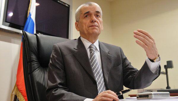 Брифинг Геннадия Онищенко по итогам селекторного совещания