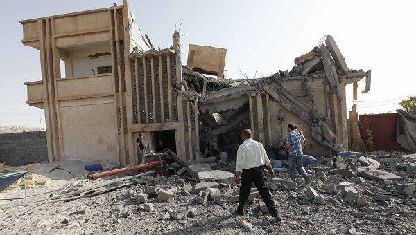 Помещения, разрушенные в ходе авиаударов НАТО на Ливию