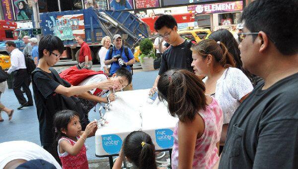 Питьевая точка на Таймс-сквер