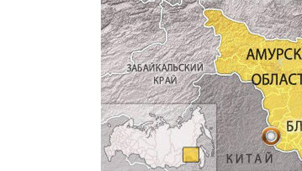 Амурская область. Карта
