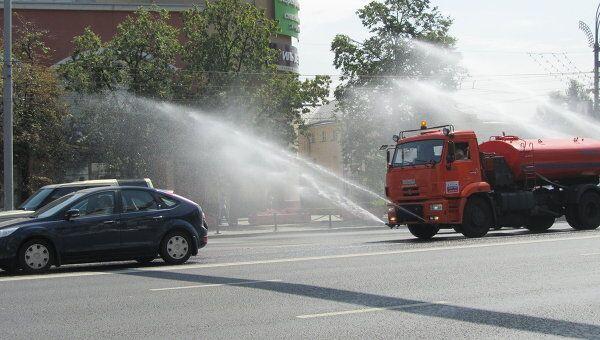 Воздух над трассами Москвы охлаждают водой