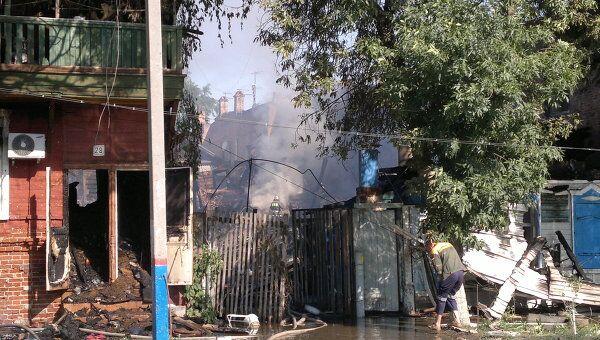 Последствия крупного пожара в Астрахани