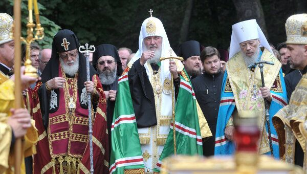 Святейший Патриарх Московский и Всея Руси Кирилл на Украине