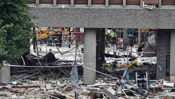На месте взрыва в Норвегии