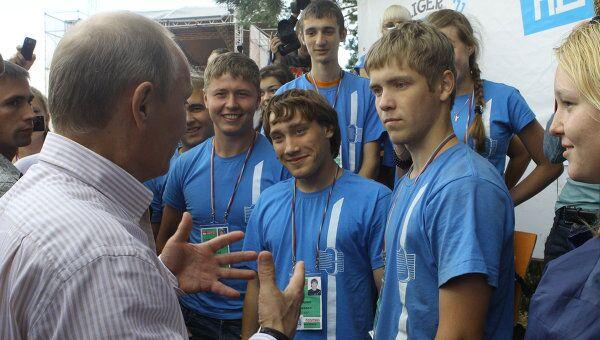 Посещение В.Путиным молодежного форума Селигер-2011