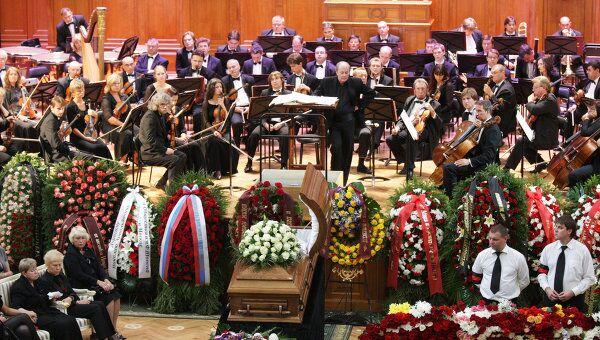 Прощание с пианистом Николаем Петровым