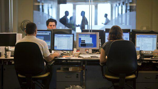 Трейдеры в инвестиционном банке в Тель-Авиве