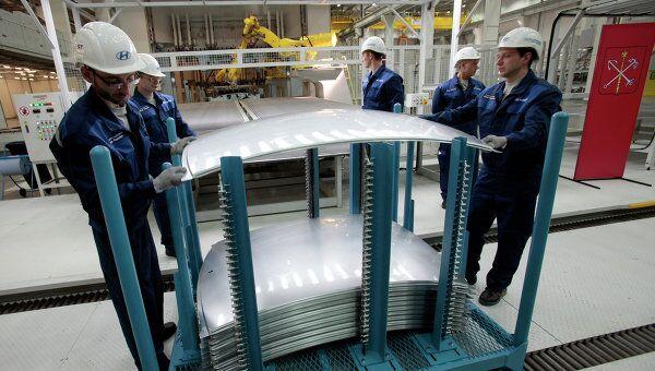 На заводе Хендэ Мотор Мануфактуринг Рус, архивное фото