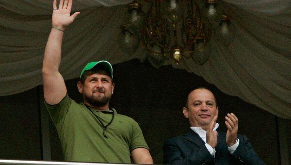 Рамзан Кадыров и Сергей Прядкин (слева направо)