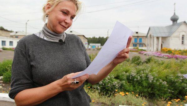 Актриса Наталья Захарова после освобождения из колонии