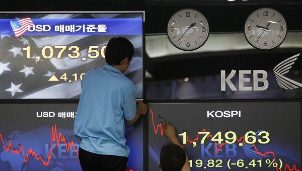 Корейская фондовая биржа. Архив