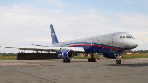 Самолет Ту-214 ОН авиационной системы наблюдения Открытое небо