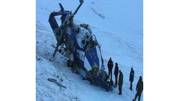 Вертолет Ми-8, разбившийгося на Алтае 9 января