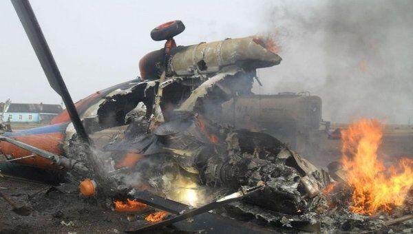 Вертолет Ми-8, который разбился на Чукотке 25 июля 2011