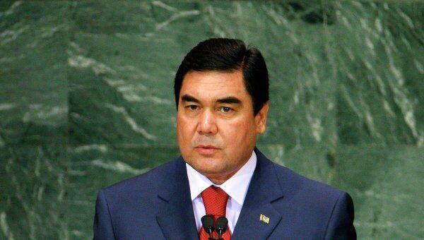 Президент Туркмении Гурбангулы Бердымухамедов на саммите ООН по обзору выполнения Целей развития тысячелетия (ЦРТ) в Нью-Йорке.