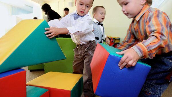 В детском саду. Архив