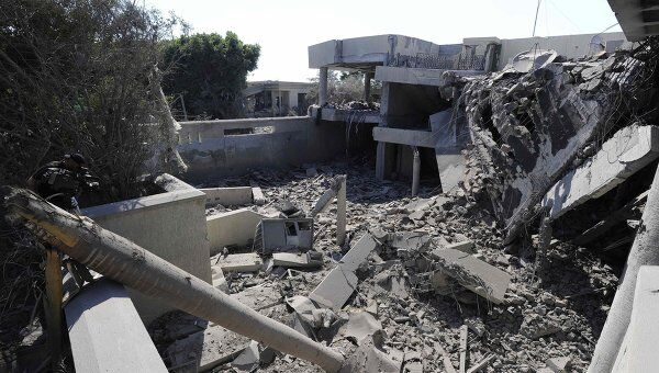 Руины дома шефа ливийской разведки Абдуллы ас-Сенусси, Триполи