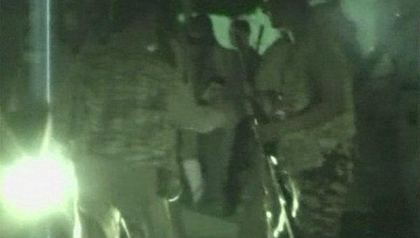 Видеокадр обстановки недалеко от Зеленой площади в Триполи. 22 августа 2011 года