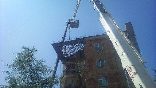 Последствия обрушения жилого дома во Владивостоке