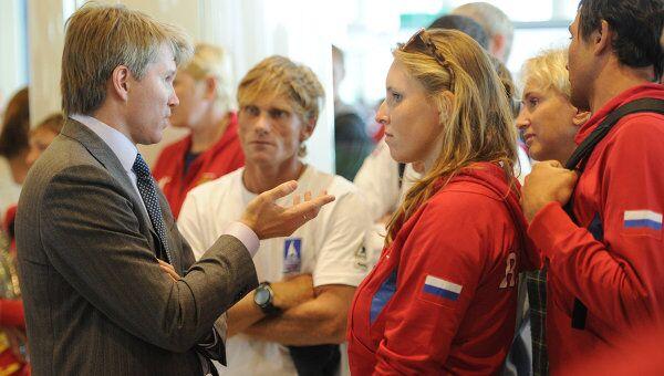 Прилет участников Всемирной летней Универсиады в Москву