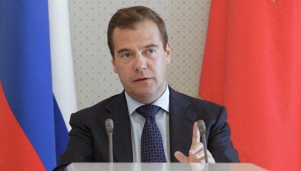 Медведев одобрил ратификацию договора о взаимотношении ТС с ВТО