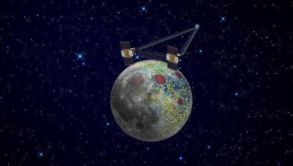 Аппараты GRAIL на окололунной орбите