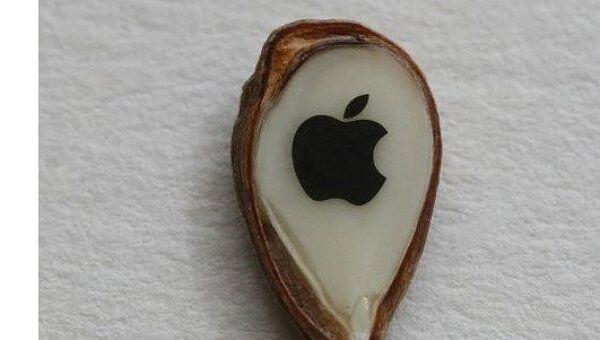 Подарок Стиву Джобсу в виде логотипа Эппл на яблочном зернышке