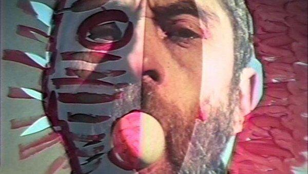 Валерий Айзенберг, Визуальные манипуляции №2. 1995, видео  (Из цикла перформансов Визуальные манипуляции,1994-1998)