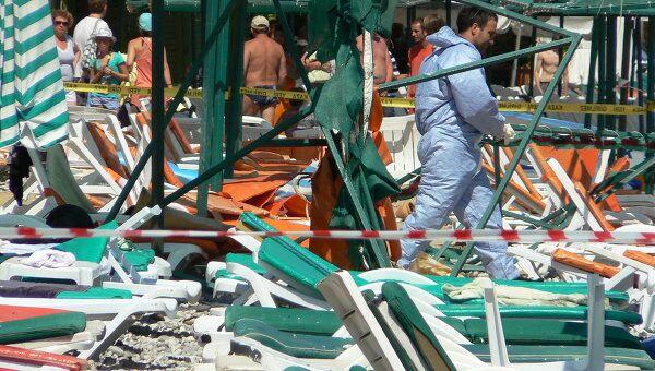 Взрыв в турецком Кемере