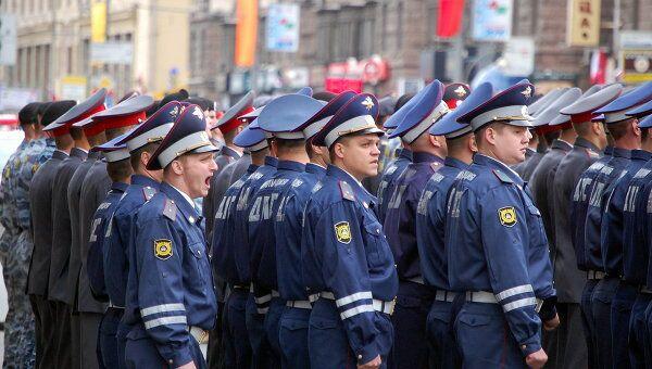 Эстафета милиционеров в Москве