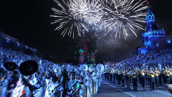 Церемония открытия фестиваля Спасская башня 2011 в Москве