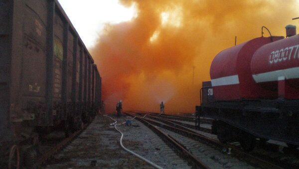 Разлив брома на железнодорожном вокзале Челябинска