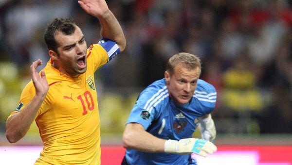 Игровой момент матча Россия – Македония