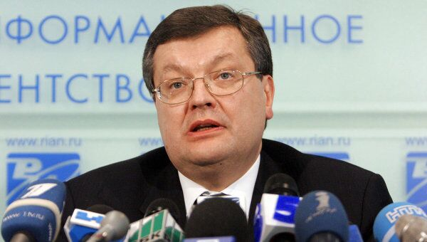 Министр иностранных дел Украины Константин Грищенко. Архив
