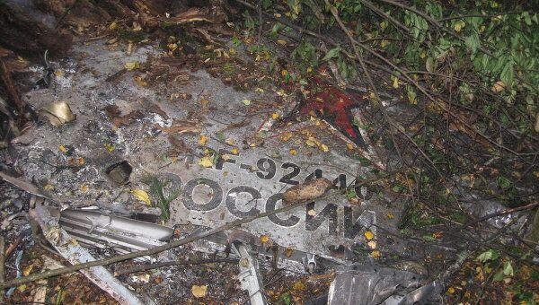Место падения самолета МиГ-31 под Пермью