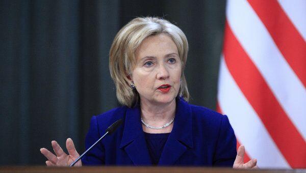 Экс-госсекретарь США Хиллари Клинтон на пресс-конференции по итогам переговоров с главой МИД РФ. Архивное фото