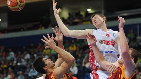 Баскетбол. Чемпионат Европы. Матч Россия - Македония