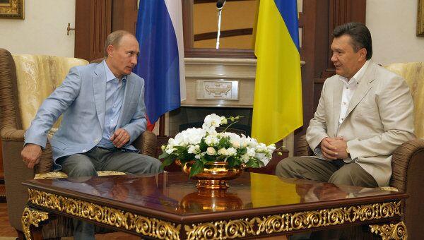 Встреча премьер-министра РФ Владимира Путина с президентом Украины Виктором Януковичем. Архив