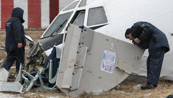 На месте аварийной посадки Ту-154 в Домодедово работает следственная группа