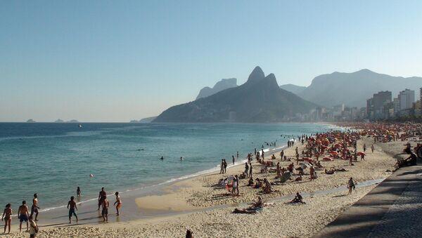 Городской пляж в Рио-де-Жанейро
