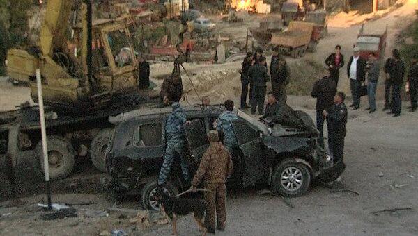 Взрыв в дагестанском селении Хаджалмахи