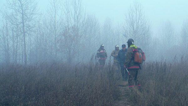 Тушение лесных пожаров в Братской области