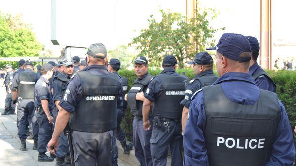 Болгарская полиция обеспечивает порядок во время демонстрации