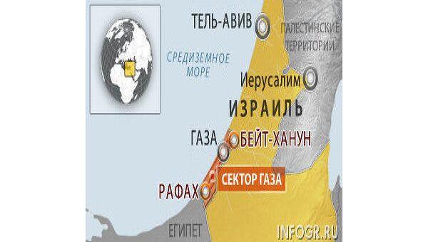 ВВС Израиля нанесли удар по городу Бейт-Ханун, трое ранены